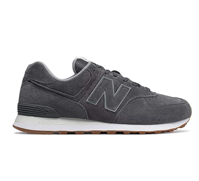 new balance uomo 574 grigio pelle