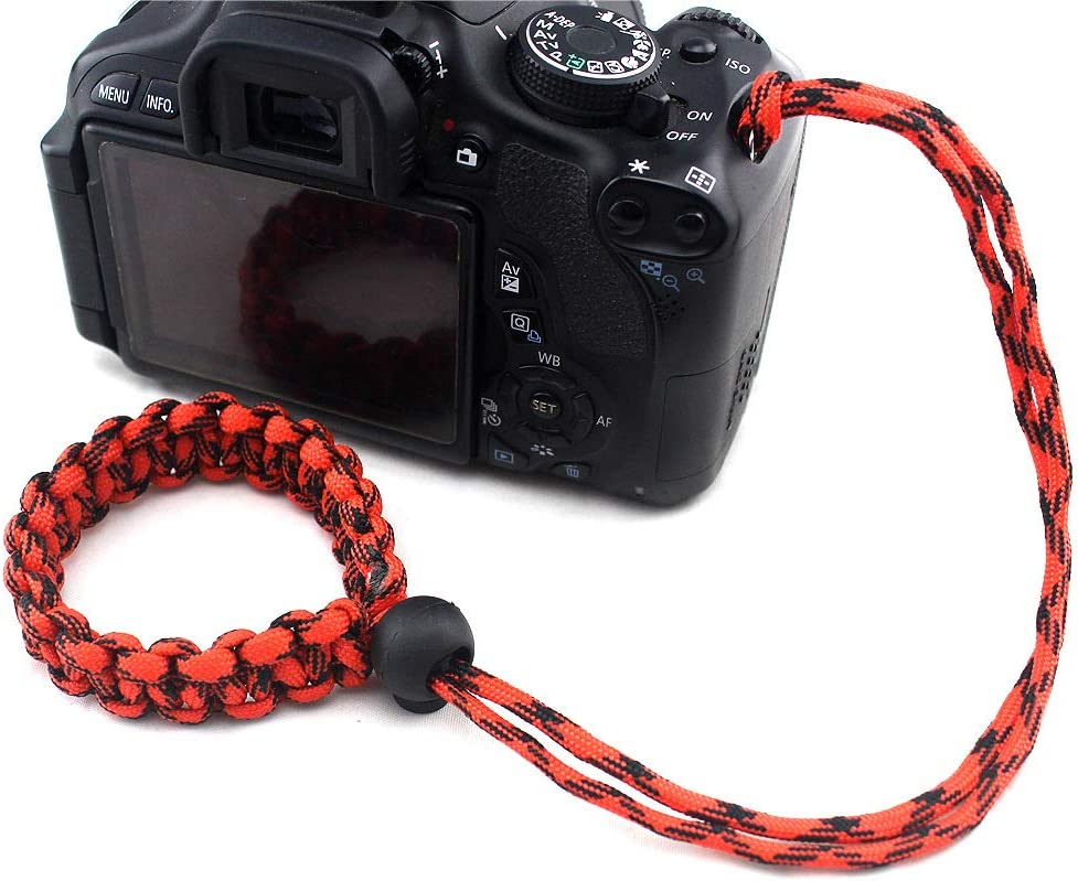 ROWEQPP Fashion Braided Digital Camera Strap Camera Wrist Strap Hand Grip Wristband Replacement for Nikon Compatible with Canon Compatible with Sony Brown