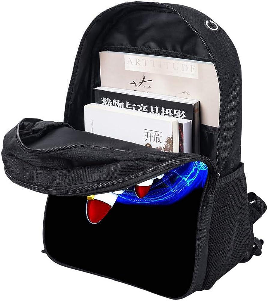 TRUHDS55AQoo Sonic The Hedgehog Teen Boys Girls Backpack Big Boys Girls Bookbag Travel Outdoor Daypack