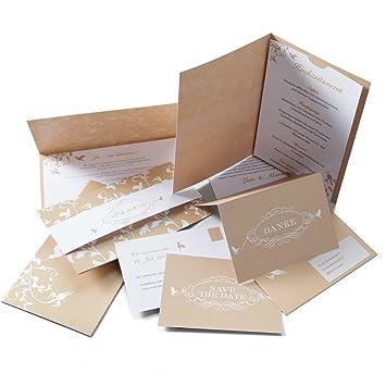 Einladungskarten Set U0027Kolibriu0027 Zur Hochzeit   Für 15 Sendungen/30 Gäste