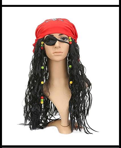 Peluca, peluca pirata - torero, España, talla única - peluca negra, fiesta