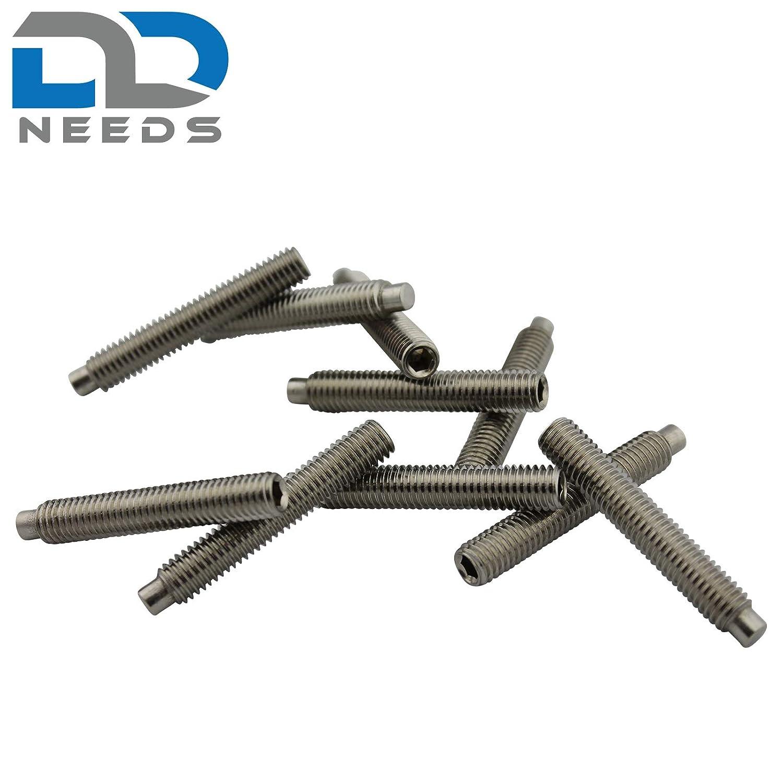 D2D Madenschrauben ISK und Zapfen aus Edelstahl A2 // V2A VPE: 20 St/ück Gr/ö/ße M3 x 20 mm nach DIN 915 mit Innensechskant Gewindestifte
