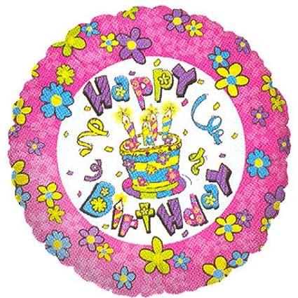 Birthday Cake Flowers Mini Balloon 1 Ct Amazon In Toys Games