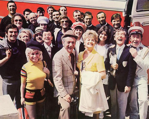 Windsor Cast (Carry on Abroad Sidney James Joan Sims Barbara Windsor & entire cast 16x20 Poster)