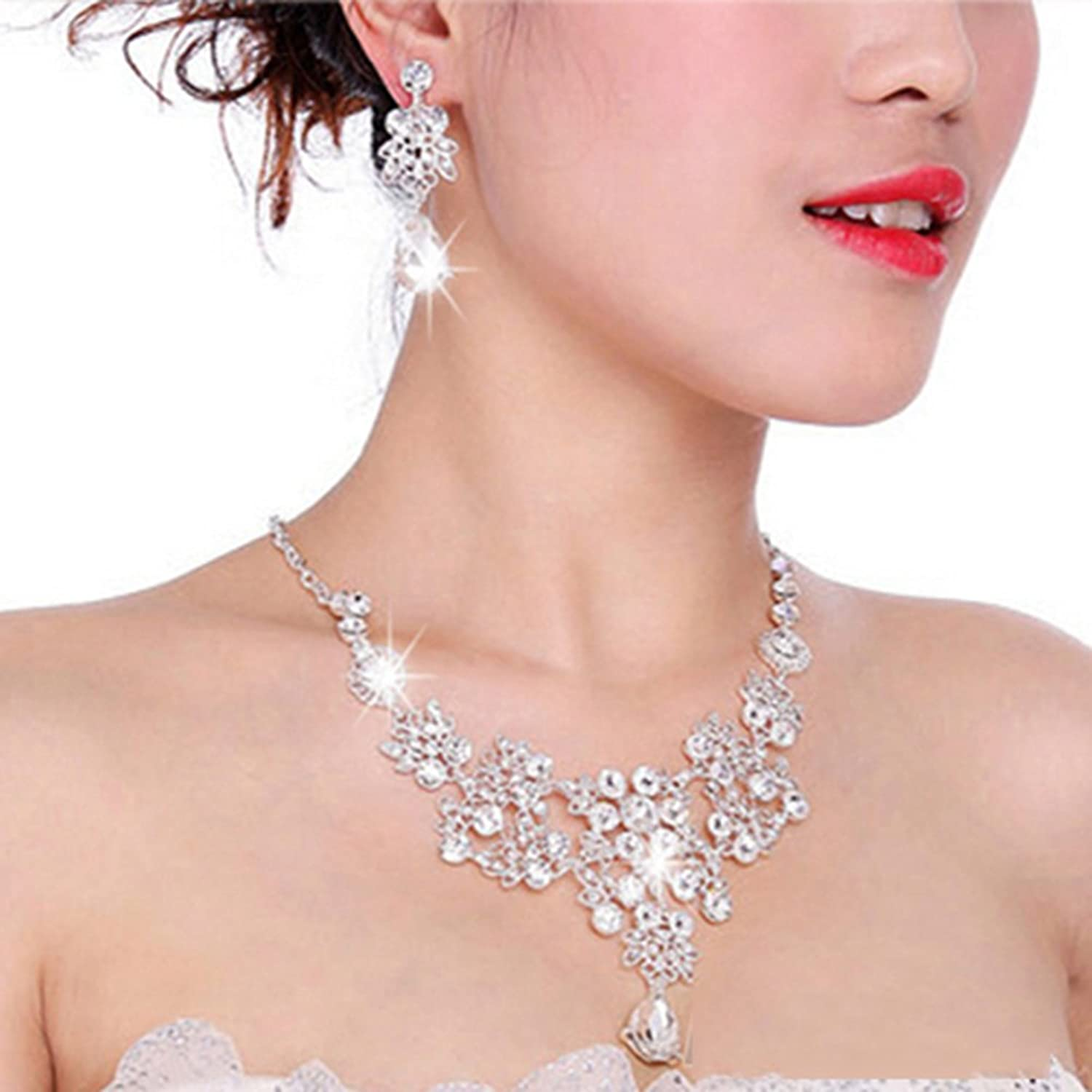 Womens Wedding Jewellery Sets Fashion Bride Earrings Pendant