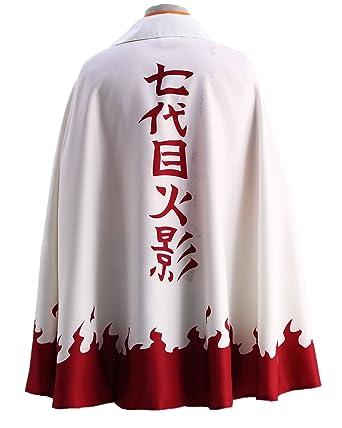 Naruto Uzumaki 6th Hokage Halloween Cosplay Costume Cloak Any Size