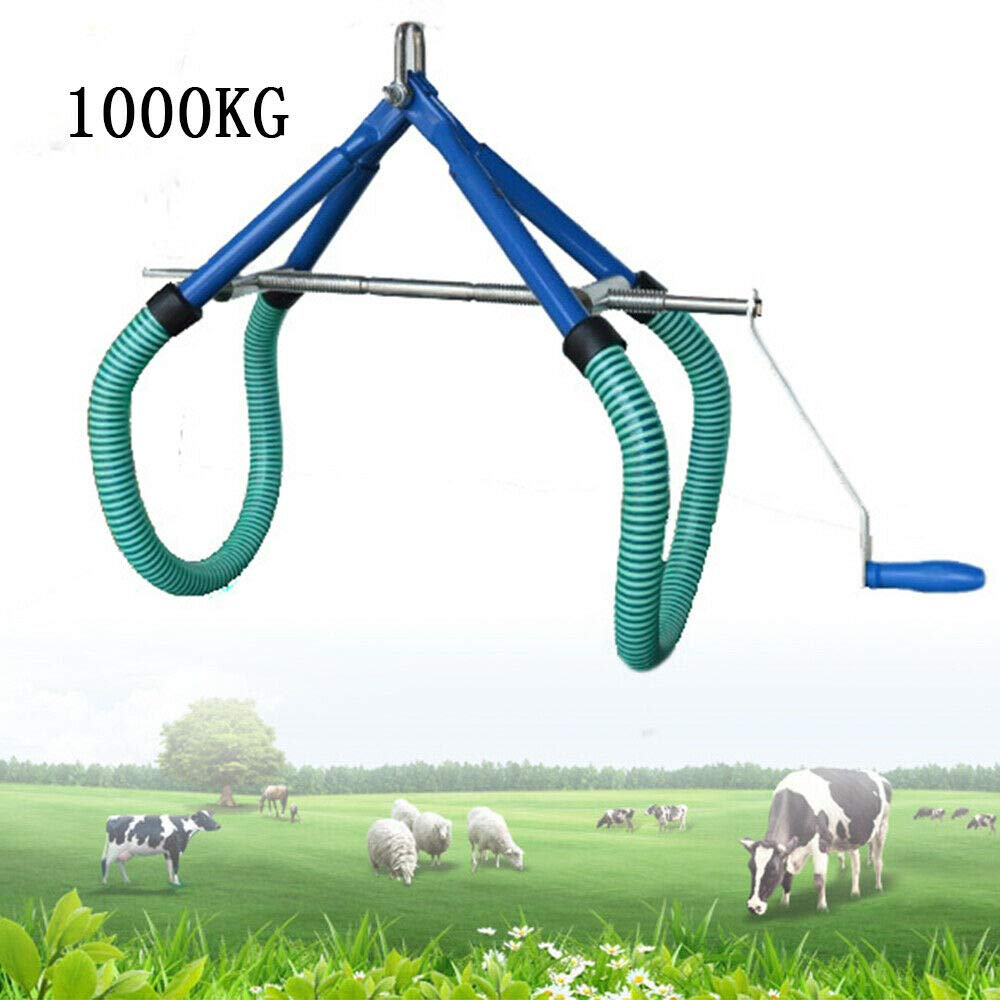 Cow Hip Lift OB Calving Milking Birthing Lame Adjustable Clamp for All Cows Easy Fast for Emergencies 1000KG (US Stock) by SHZICMY