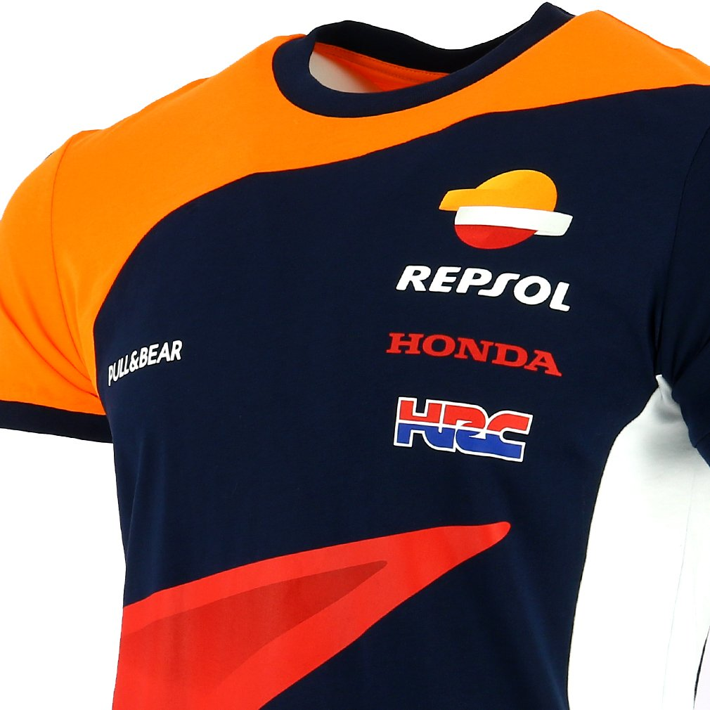 Pritelli 1838501//S Honda Repsol Moto GP Teamwear Replica Panel Official T-Shirt 2018 Blue