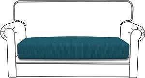 Easy-Going Stretch Cushion Cover Sofa Cushion Furniture Protector Sofa Seat Sofa slipcover Sofa Cover Soft Flexibility with Elastic Bottom(Loveseat Cushion,Peacock Blue)