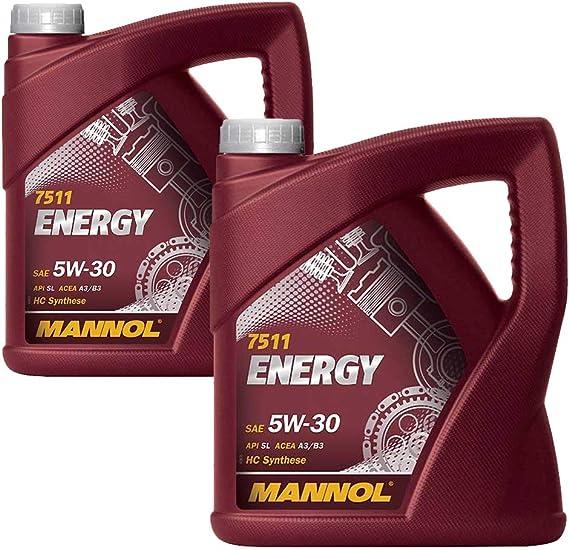 Mannol 2 X 5 Liter Energy 5w 30 Hc Synthese Auto