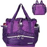 PAPAZAU Rfid Travel Tote Bag 40L Convertible Rpet Tote Backpack Large Beach Gym Tote Bag (Purple)