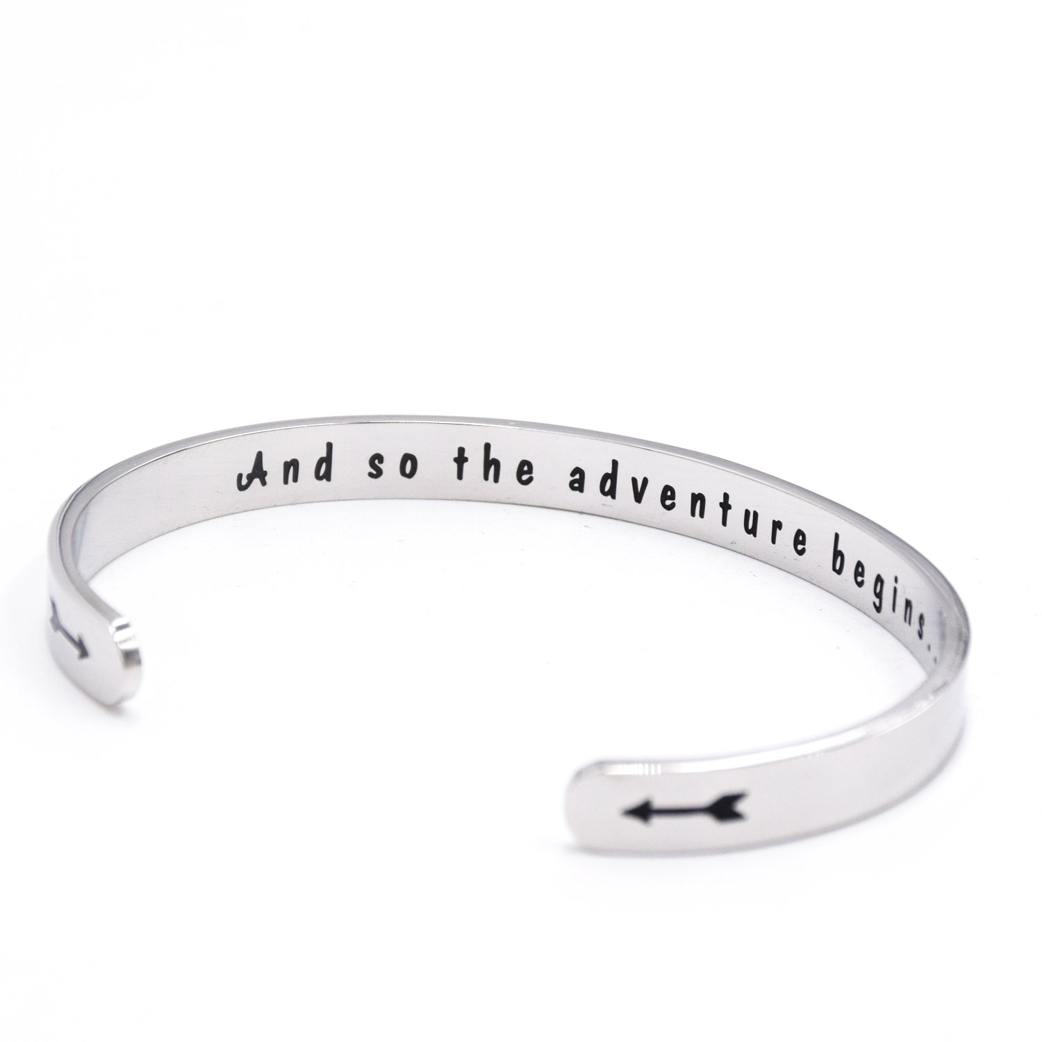 LParkin Class of 2018 2019 Gift And So the Adventure Begins Cuff Bracelet Graduation Gift (Cuff) by LParkin (Image #3)