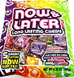 Now & Later Long Lasting Chews 5 Great Flavors Now Softer, 4.25 Oz. (120g) (2 Pack)