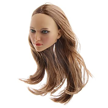 1//6 Action Figures Lady Head Sculpt for 12inch Kumik//CY CG Girl Body Accessory