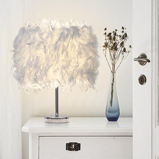 Vintage Minimalist LED Feather Shade Desk Lamp, COUTUDI Creative ...