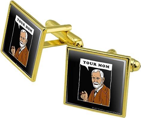 Gold Toned Armadillo Square Tie Clip