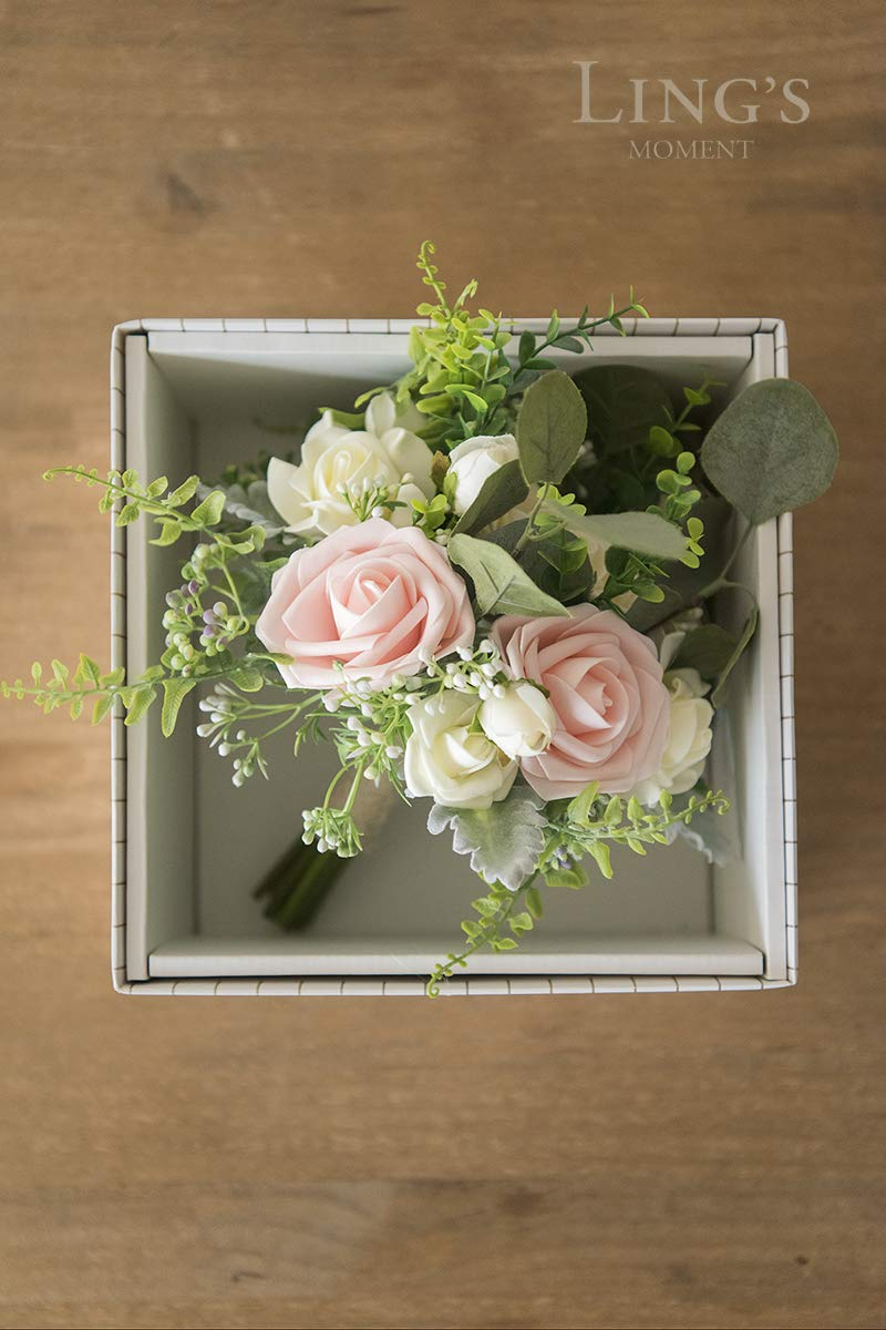 Lings moment Wedding Bouquet for Bridal Bridesmaid Vintage Artificial Flowers Bouquet Home Wedding Decoration Ling/'s moment