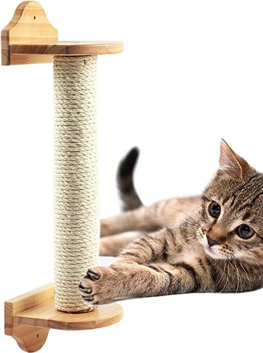 TINTON LIFE - Poste rascador de Pared para Gatos, Poste de sisal para Gato, rascador de árbol para Gatos, Muebles de Gatito 2.4 x 15.8 Pulgadas: Amazon.es: Productos para mascotas