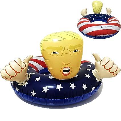 Amazon.com: Flotador piscina Donald Trump bandera americana ...