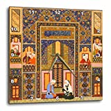 3dRose dpp_162527_2 The Meeting of The Theologians-Islamic Persian Art-1540-1550 Ad by Abd Allah Musawwir-Arabian-Wall Clock, 13 by 13-Inch