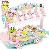 マザーガーデン Mother garden おままごと クレープ ワゴン〔木製 ままごとセット クレープ屋さん〕 おもちゃ アイスクリーム