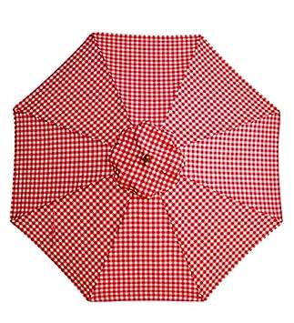 Plow Hearth 7 Aluminum Umbrella with Crank Arm, in Red Gingham