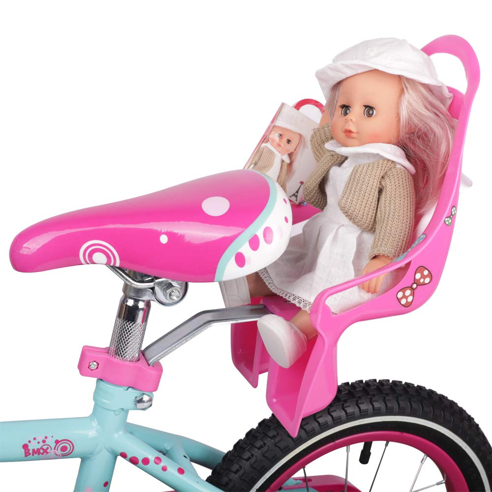 DRBIKE Bicycle Doll Seat with Stickers DIY Decal for Girls Kids Bike Accessories