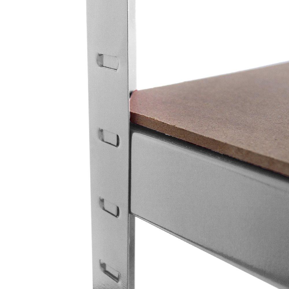 Home Vida 5 Tier Garage Shelf Storage Shelving Rack Heavy Duty Kitchen Racking 875 Kgs Capacity Large Black