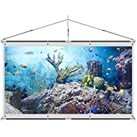 JaeilPLM Indoor 120-Inch Portable Wrinkle-Free Wall Mounted Projector, Projection Screen. 4K HD Compatible. Good for Gaming, Home Theater Setup, and Watching Movies. Semi-Permanent, No Pull Down.