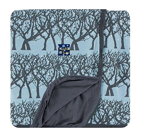 Kickee Pants Custom Stroller Blanket, Pond Fireflies Stone Trim & Backing (Pre-Sale)