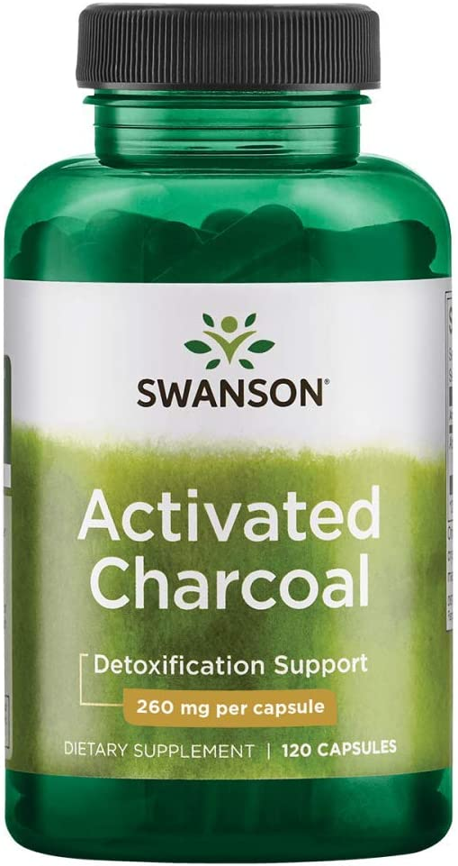 Swanson Activated Charcoal, Detox Support Supplement 260 mg, 120 Capsules, 60 Servings, 520 mg per Serving: Health & Personal Care