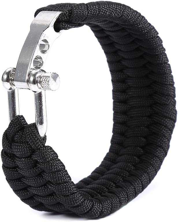 Camping Emergency Paracord Military Survival Bracelet Parachute Cord Buckle ac