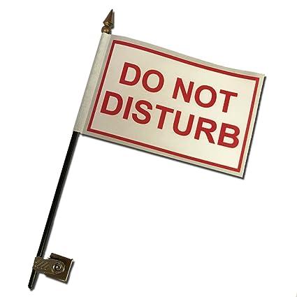 Amazoncom Do Not Disturb Desk Flag With Flag Up Flag Down - Do not disturb desk sign