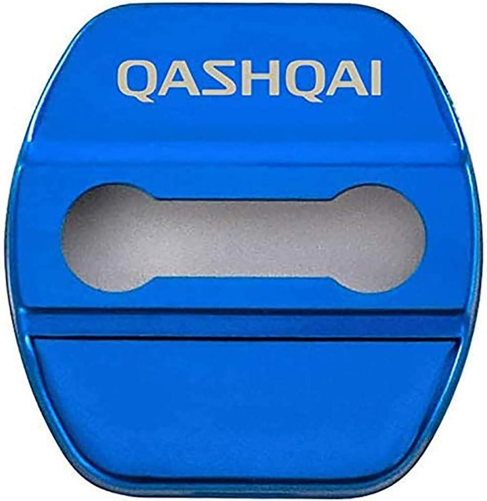 N//A 4Pcs Car Styling T/ürschlossabdeckung F/ür Nissan Qashqai J10 J11 Door Lock Cover T/ürschloss-Schlie/ßkappe Edelstahl Auto Protection Zubeh/ör