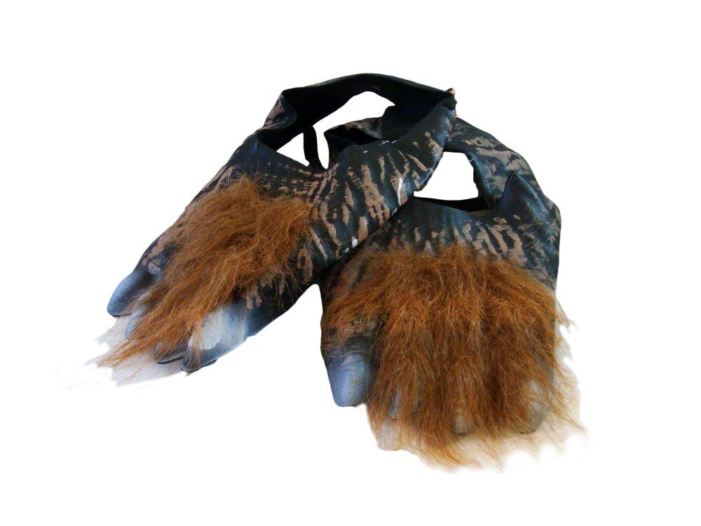 Halloween Werewolf Hairy Feet Accessories Fancy Dress Wolf Shoe Cover Costume