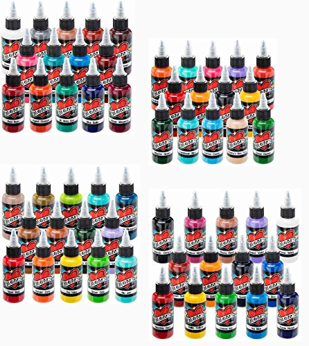 Millennium Mom's Tattoo Ink 56 Color Set 1/2 (.5) oz (Moms Millenium Tattoo Ink)