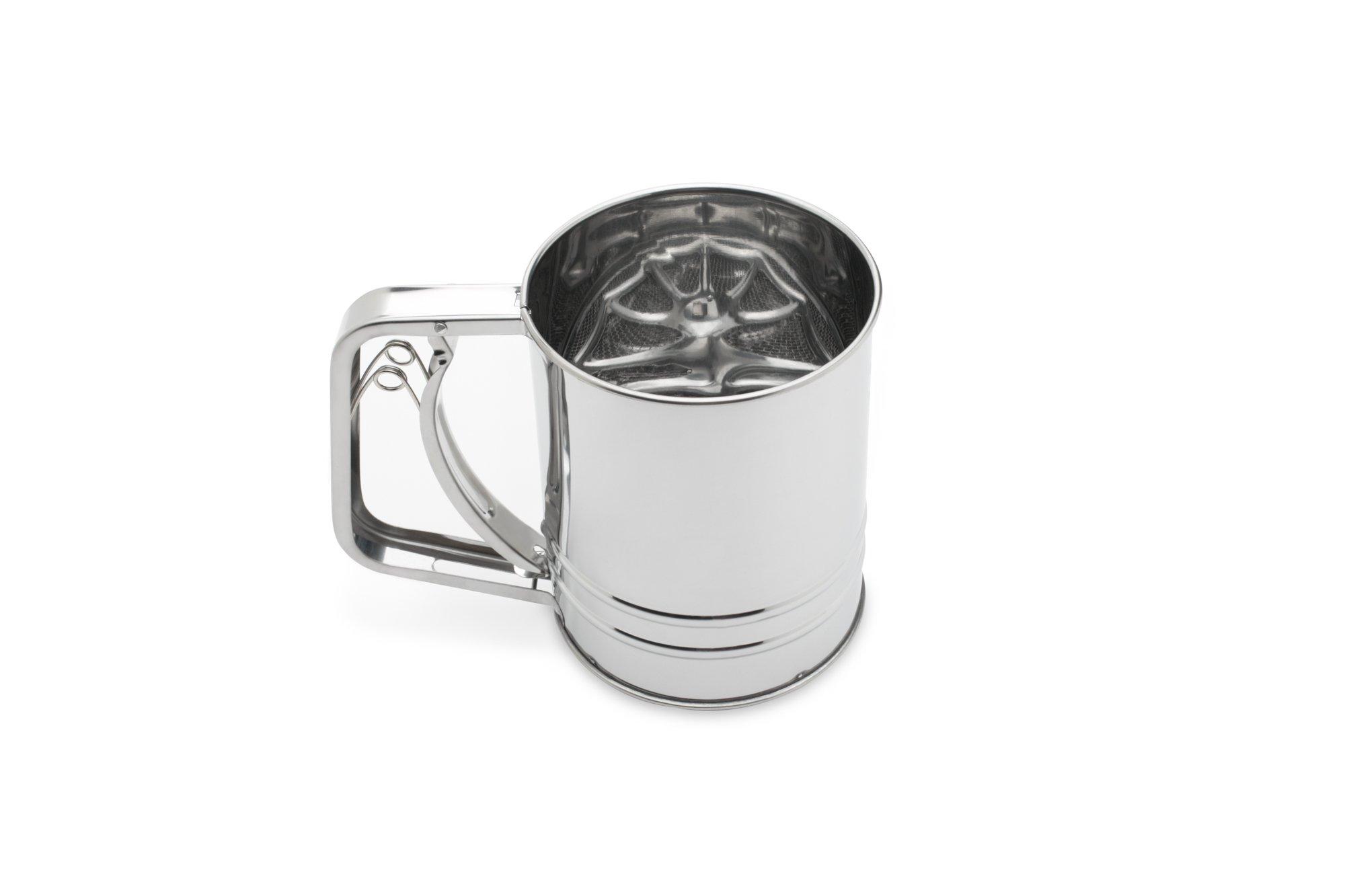 Fox Run 4653 Flour Sifter, Stainless Steel, 3-Cup