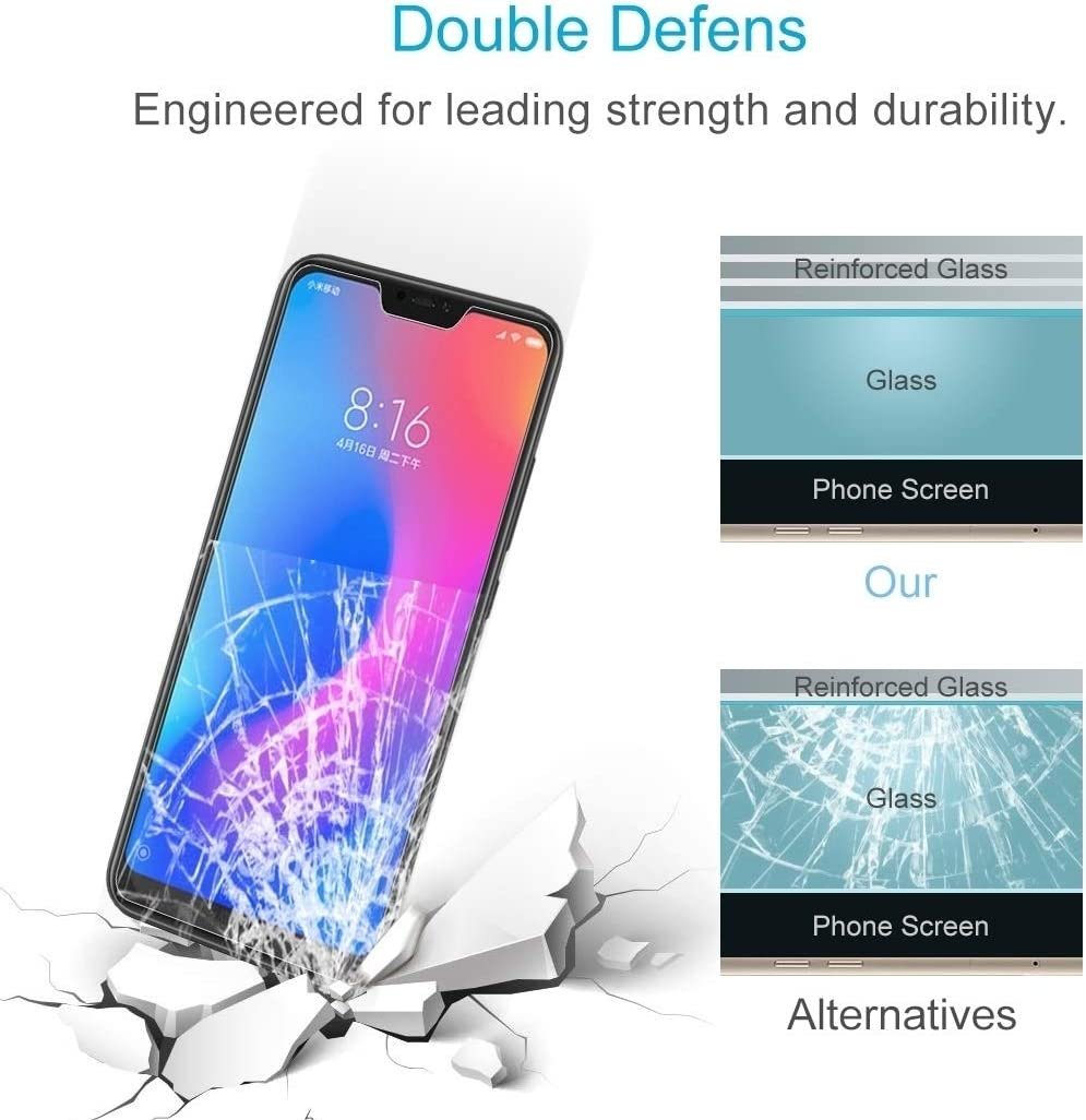 ZHANGYUNSHENG 100 PCS 0.26mm 9H Surface Hardness 2.5D Curved Edge Tempered Glass Film for Xiaomi Redmi Note 6 Pro zys