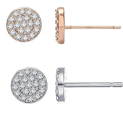 6c96262f6d4af Girls Cute Mini Earrings Jewelry Rose Gold Star Stud Earring Cute Moon  Earrings Women Set