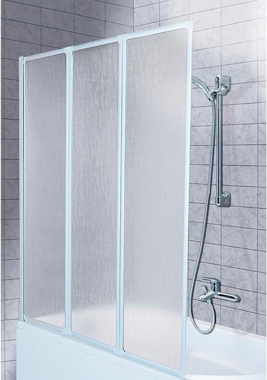 Aqua Forma bañera Pared Plegable de 3 Piezas, mampara, para bañera ...