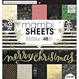 me & my BIG ideas All That Glitters Mambi Sheets, 12-Inch by 12-Inch