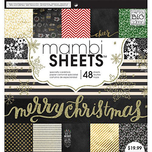 me & my BIG ideas All That Glitters Mambi Sheets, 12-Inch by 12-Inch (Me And My Big Ideas Specialty Cardstock)