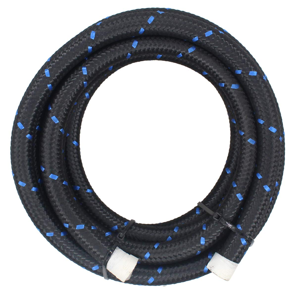 ApplianPar Blue and Black Premium Braided Stainless Steel 6AN 10 Feet Fuel Line Filler Feed Hose Ends Kit
