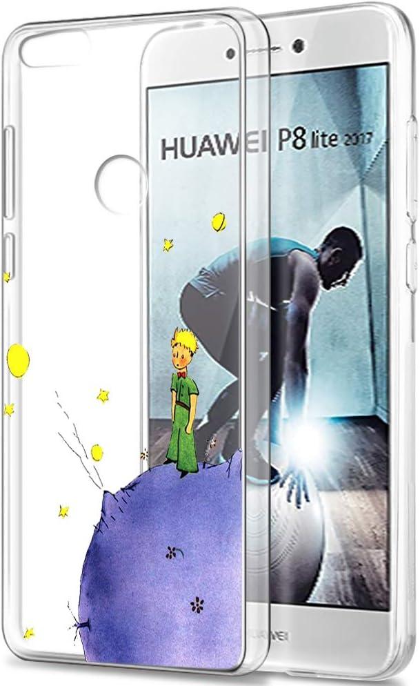 YOEDGE Funda Huawei P8 Lite 2017 Ultra Slim Cárcasa Silicona Transparente con Dibujos Animados Diseño Patrón [El Principito] Resistente Bumper Case Cover para Huawei P8 Lite 2017 (Púrpura): Amazon.es: Electrónica