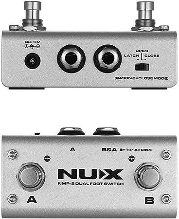 NMP-2 - Interruptor de pie doble de metal, pedal de control ...