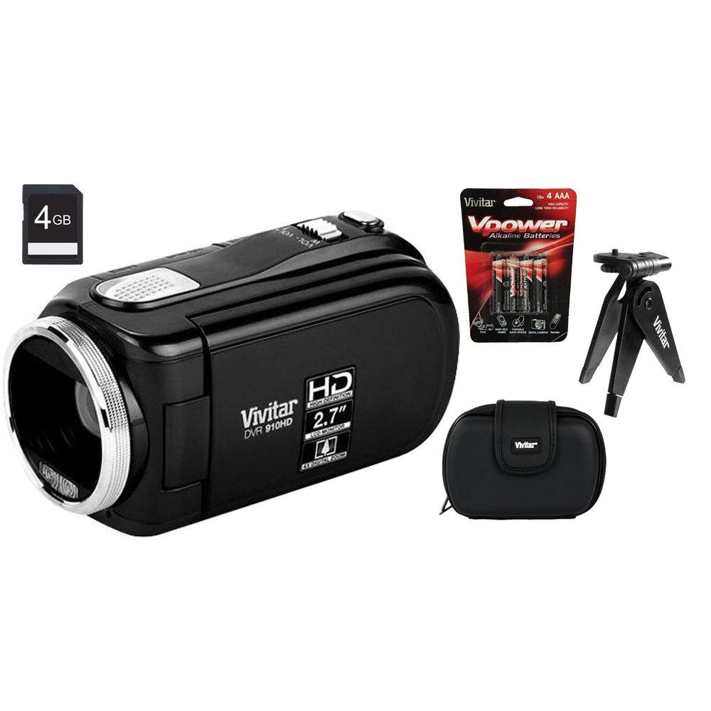 Vivitar High Definition Digital Video Recorder 910 Black Accessory Bundle