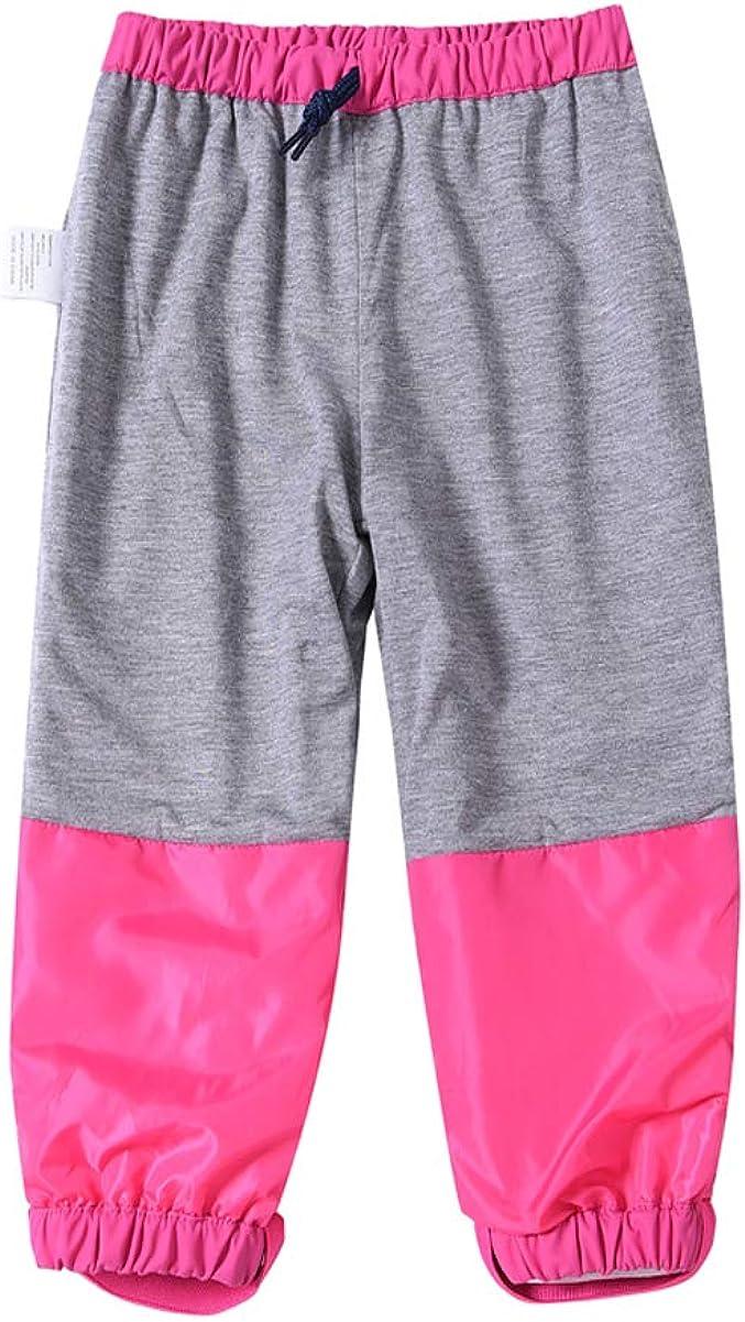 M2C Boys Girls Cotton Lined Waterproof Rain Pant Reflective Lightweight Rainwear