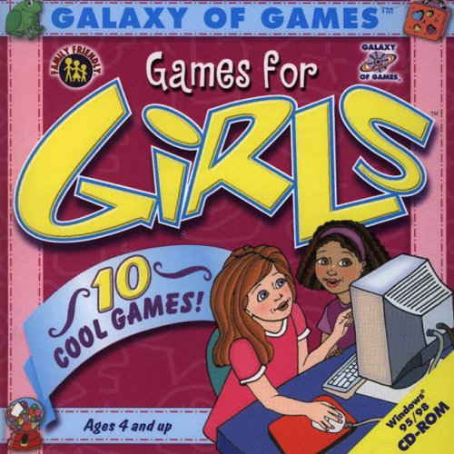 Galaxy Of Games For Girls  10 Cool Games For Ages 4 And Up  Cd Rom For Windows 95 98