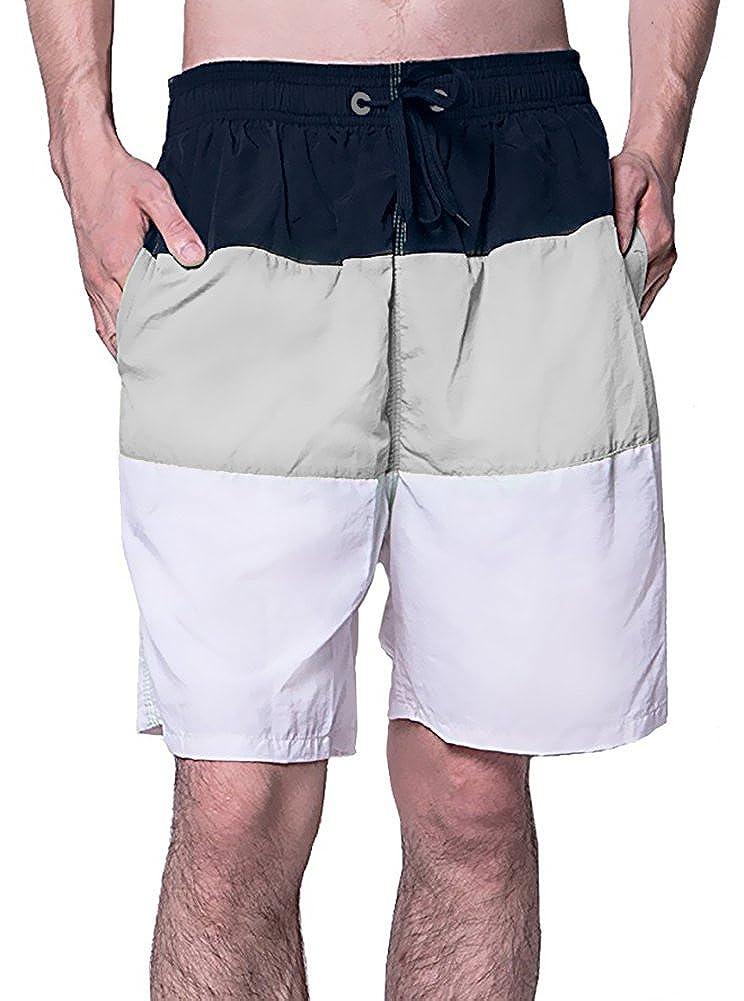 Justay Men's Printing Quick Dry Beach Shorts Swim Trunk
