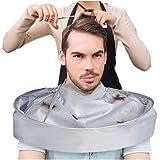 Barber Cloak, AMA(TM) Hair Cutting Cloak Gown Umbrella Nylon Hair Salon Cape Hairdresser Haircut Bib Apron (Silver)